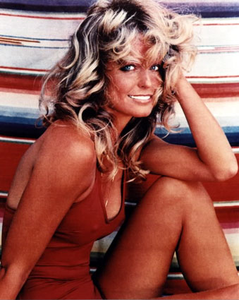 farah fawcett hairstyle. Farrah Fawcett, the television and film star who transcended her early