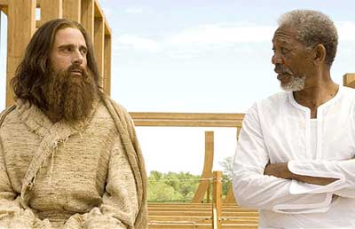 Steve Carell and Morgan Freeman in Evan Almighty