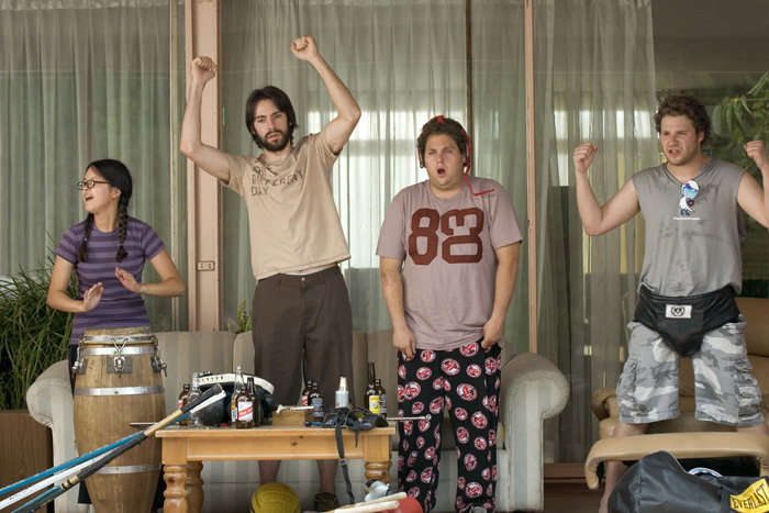 comedy in long shot knocked up