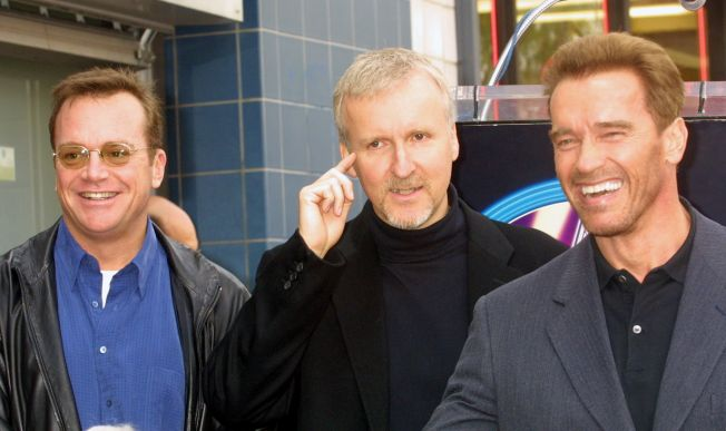Image result for james cameron and arnold schwarzenegger