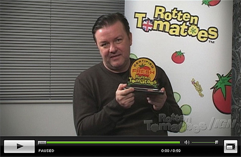 Ricky Gervais collects his Certified Fresh Award - Click to Watch!