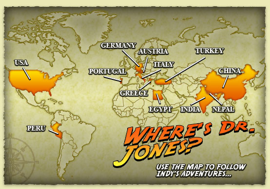 Travel the World With Indiana Jones Rotten Tomatoes Movie – Travel Map Indiana